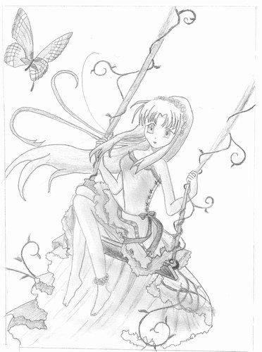 manga dessin ange fille