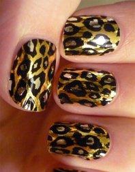 manicure imprimée léopard
