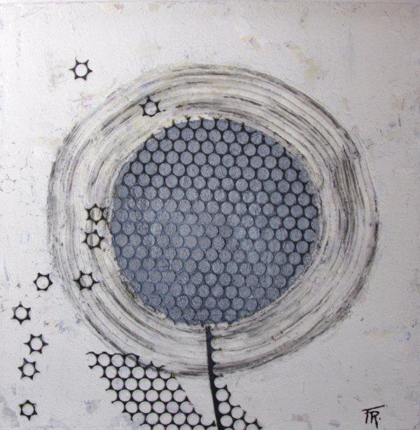 Tableau acrylique - VAPOREUSE 29.5x29.5 cm