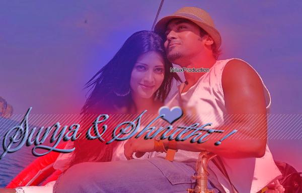☆ MY LATEST CREATION OF 7AM ARIVU(Movie) - Surya & Shruthi ♥ ☆