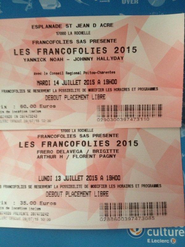 FESTIVAL FRANCOFOLIES 2015 !!!