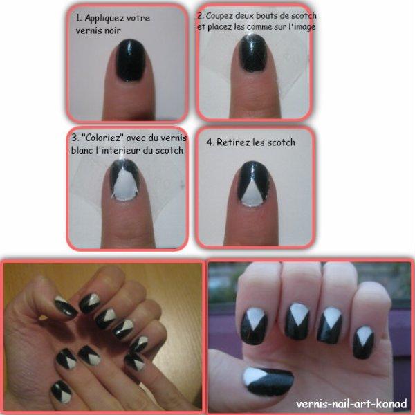 Nail Art Noir et Blanc