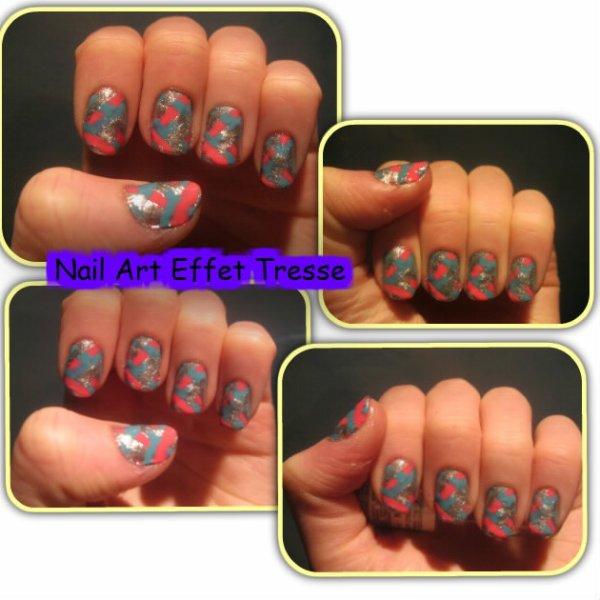 Nail Art Effet Tresse