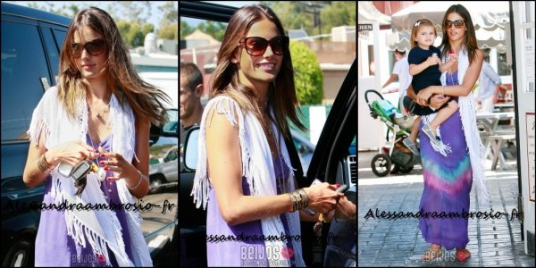 Alessandra allant à la gym