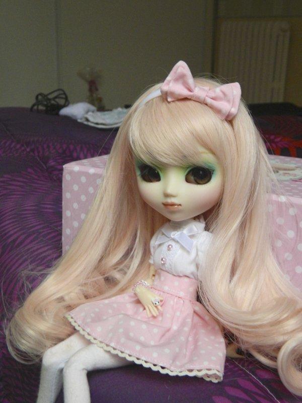 Séance avec mon bonbon rose!