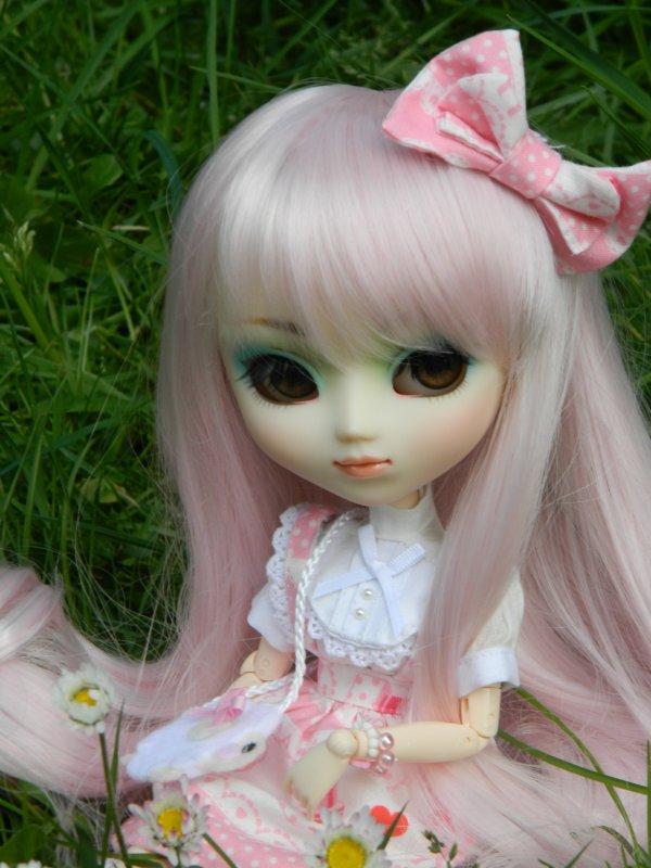 Séance en extérieur avec mon bonbon rose!