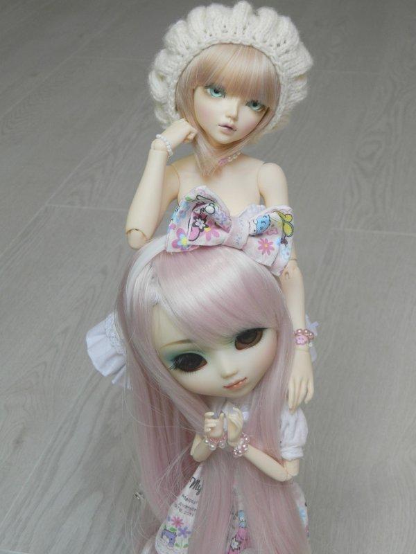 Kimiko(Pullip Prunella)en compagnie d'Umi(Minifee Chloe)!