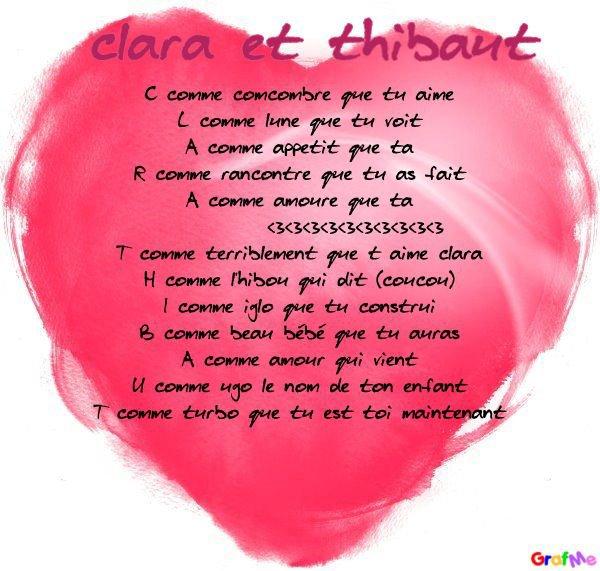 Poeme Pour Clara Et Son Chéri Jsuis Belle