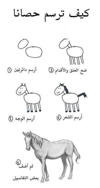 أفضل طريقة باش ترسم حصان