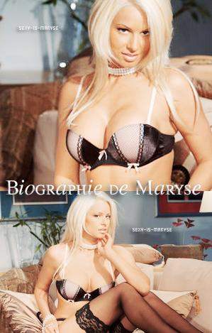 Sexy-Is Maryse : Ta Source sur Maryse Ouellet crée par Laura et Jérémy.