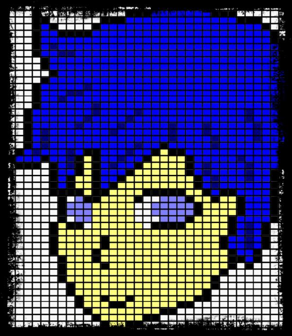 Maintenant un pixel art de Kaito, pour moi <3 mais il est moins bien que Len je trouve ...
