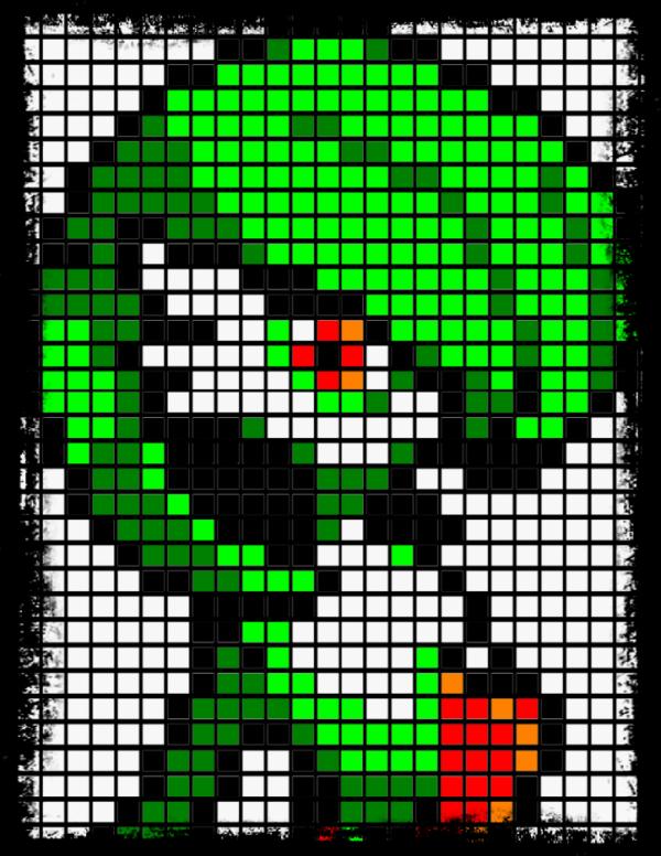 Et un petit pixel art de Gardevoir, un des plus beau pokemon <3