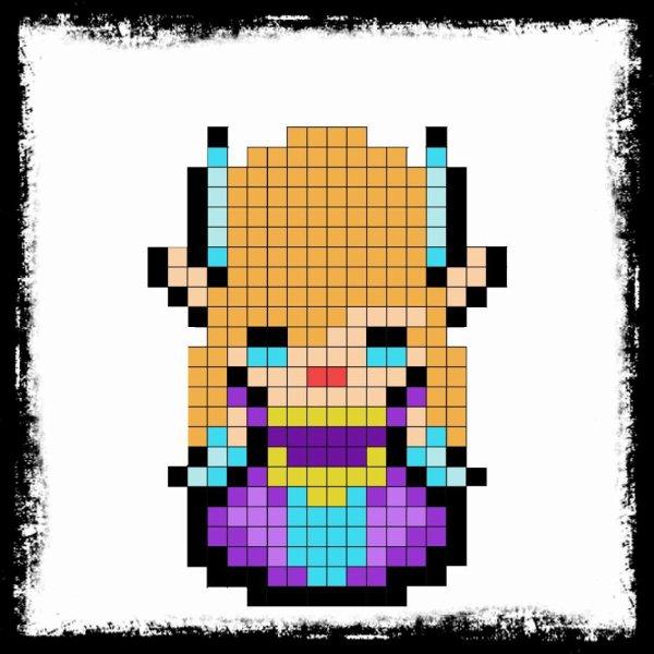 Pixel Art De Zelda Et Link 3 Celsius Et Ses Passions