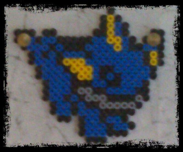 Et voici un pixel art en perle d'Aquali