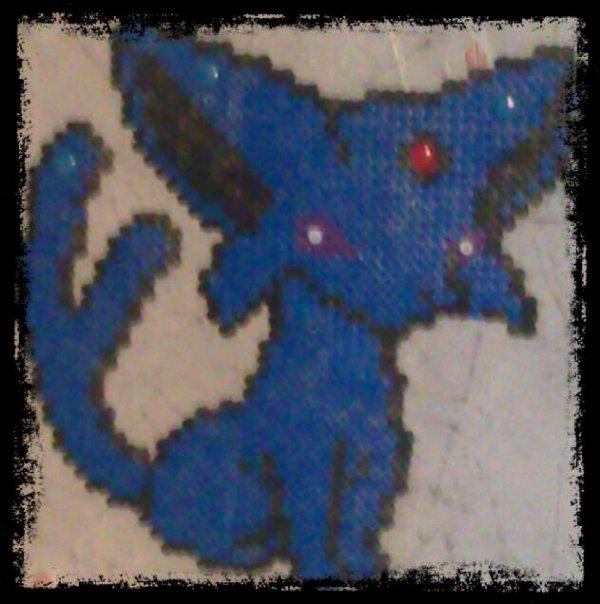 Et un pixel art du pokemon que j´aime le plus : Mentali