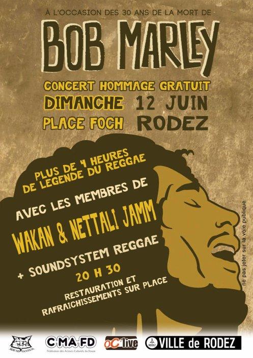 Hommage à Bob Marley place Foch Rodez