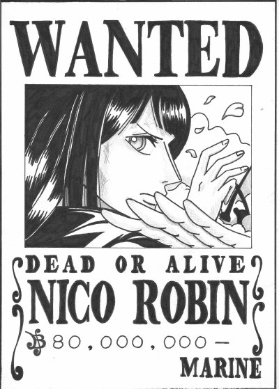 Articles de dessins best manga tagg s nico robin - Coloriage one piece wanted ...