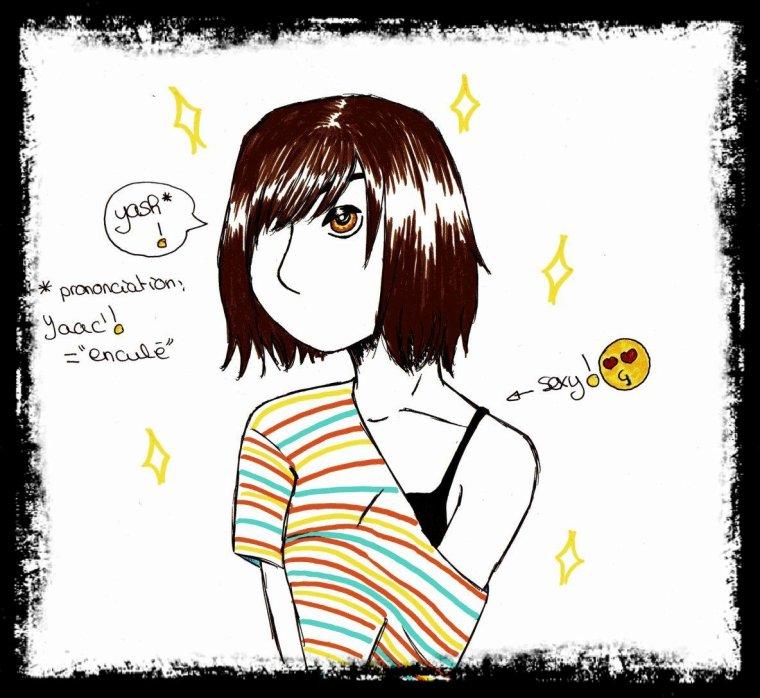 Une petite chanteuse rock...