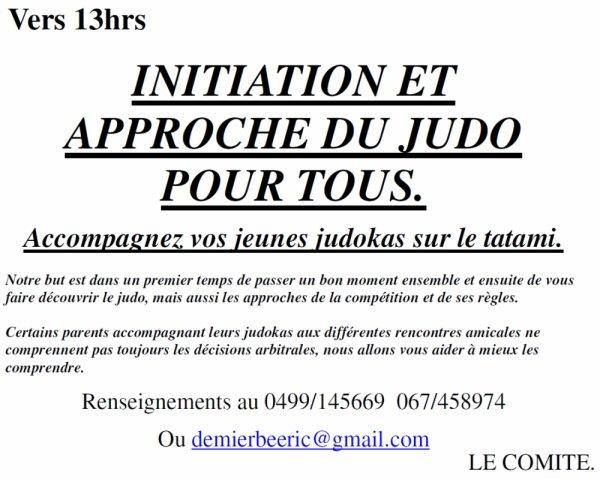 Invitation... Rencontre pédagogique pour poussins U9 organisée par le J.C Budo Neufvilles à Neufvilles...