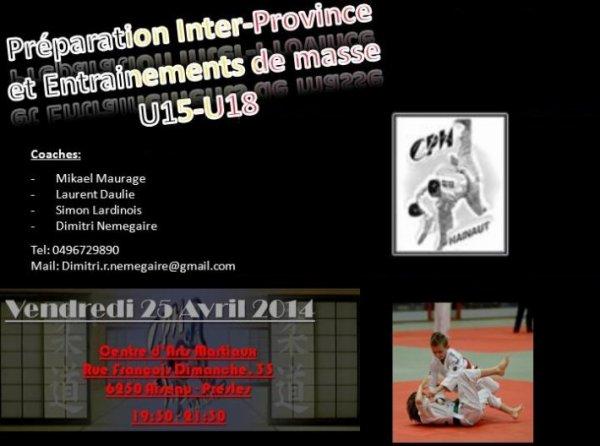 Entrainement collectif U15 & U18 pour la préparation aux Championnats de Belgique Inter-Province 2014