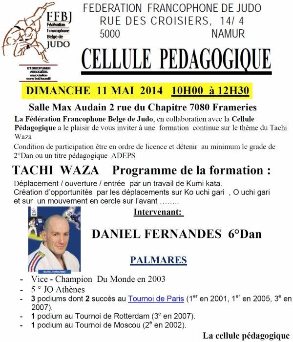 INVITATION...Formation continue de la Cellule Pédagogique de la F.F.B.J. le 11 mai à Frameries...