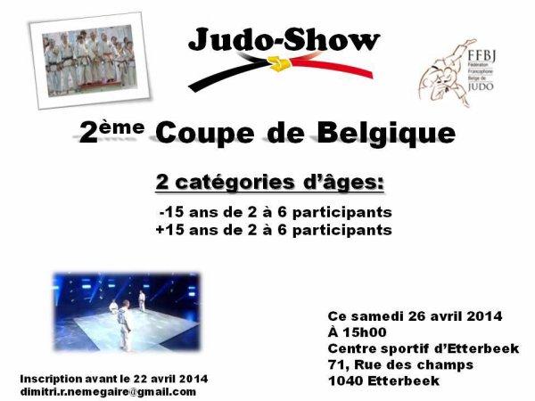 Invitation... A venir admirer la 2 ème Coupe de Belgique 2014 de Judo Show à Bruxelles...