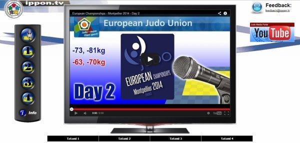 Les Championnats d'Europe de Judo 2014 à Montpellier du 24 au 27 avril 2014... EN LIVE