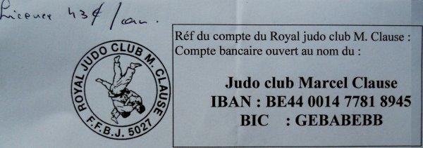 Information interne au Club de Judo de Wasmuel à la demande des parents...