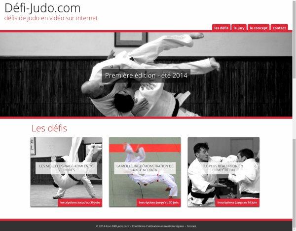 PUB... Un nouveau site internet pour relever des défis Judo... Première édition été 2014...