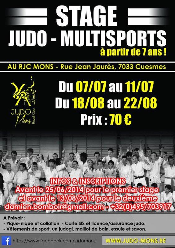 Un stage de Judo pendant les vacances chez nos amis du Royal Judo Club de Mons...