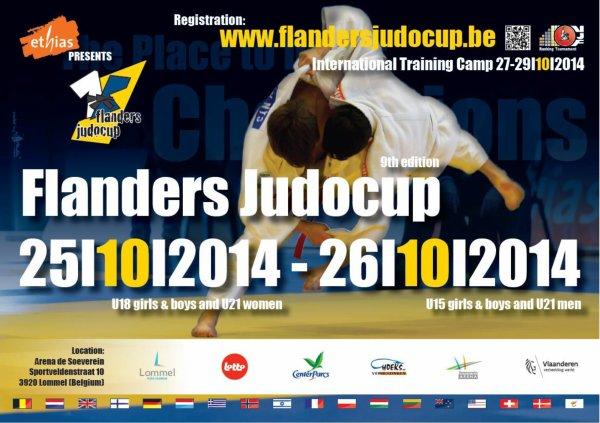 """La 9 ème édition du Tournoi International """" Flanders JudoCup 2014"""" à Lommel..."""