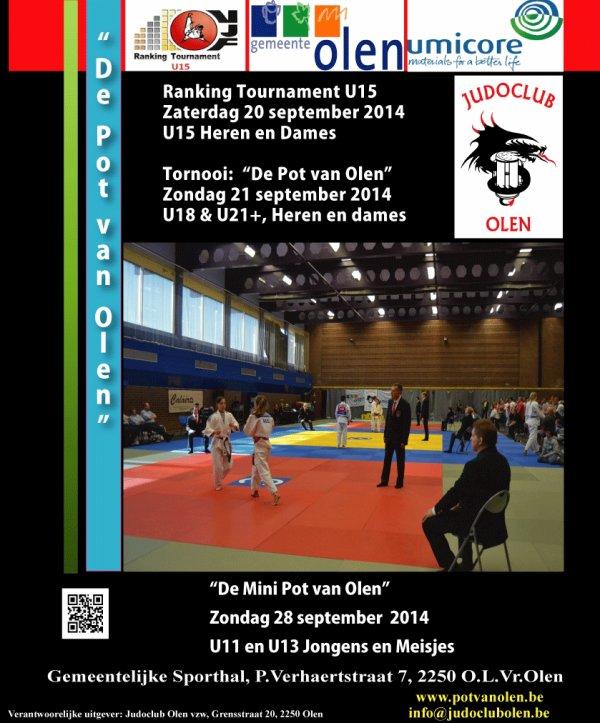 """Invitation à la 26 ème édition du Tournoi """"De Pot en Mini Pot van Olen 2014"""" à Olen..."""