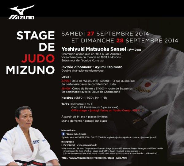 Invitation à un stage de Judo Mizuno à Wasquehal dans le Nord pour qui est intéressé...