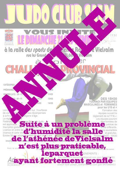Information du Judo Club Salm de Vielsalm à diffuser...