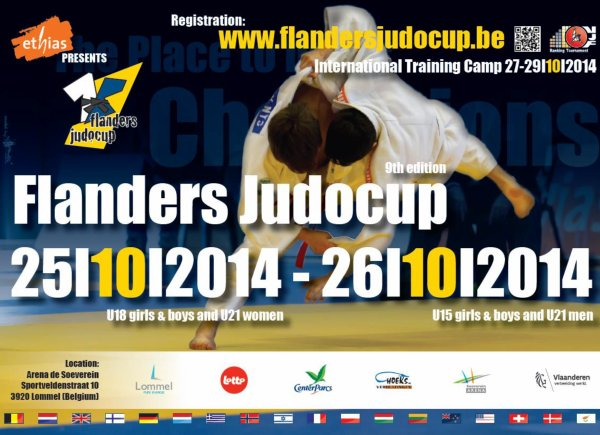 Invitation au Tournoi International Flanders JudoCup 2014 à Lommel...