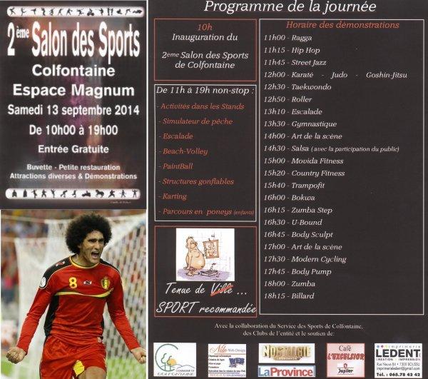 """Invitation au """"2 ème Salon des Sports"""" de l'Entité de Colfontaine à l'Espace Magnum... d'in 'l Borinache..."""