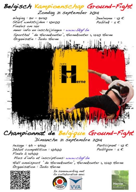 """Invitation à une Compétition """"Championnat de Belgique Ground-fight 2014"""" à Herne..."""