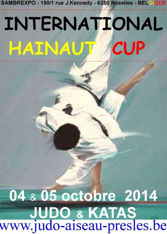 Invitation au Tournoi International Hainaut Cup 2014 Judo & Kata pour U11, U13, U15, U18, U21 et Équipes...