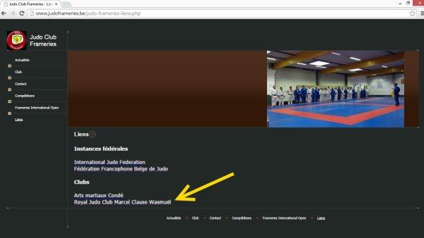 PUB... Pour le site web de nos amis du Judo Club Frameries... à visiter...