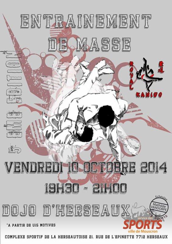 Invitation de nos amis du Royal Judo Club Kanido à un entrainement collectif à Herseaux...