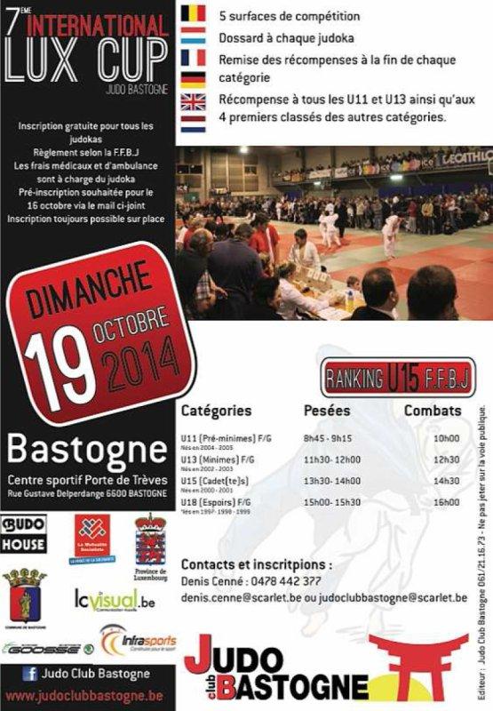Invitation de notre ami Denis à la 7 édition de l'International Lux Cup 2014 à Bastogne...