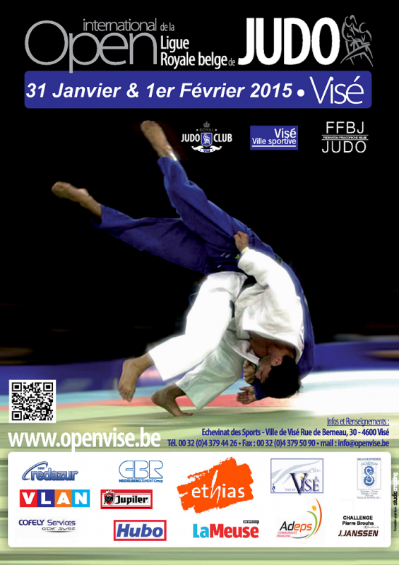 Invitation au Tournoi Open International 2015 de la Ligue Royale Belge de Judo à Visé...