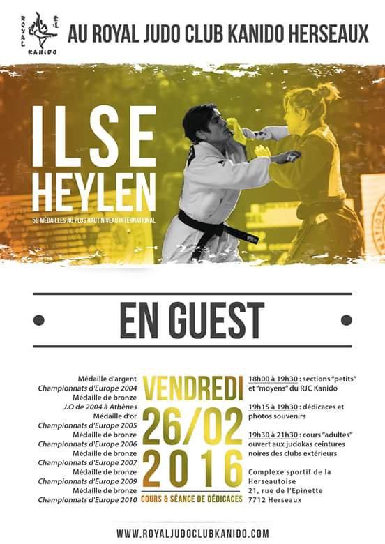 Entraînement judo avec Ilse heylen