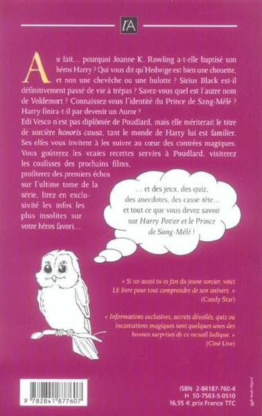 Livre : Le Guide magique du monde de Harry Potter de Edi Vesco