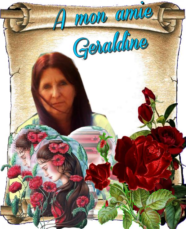 a ma gentille amie geraldine  bisous sincere amitier