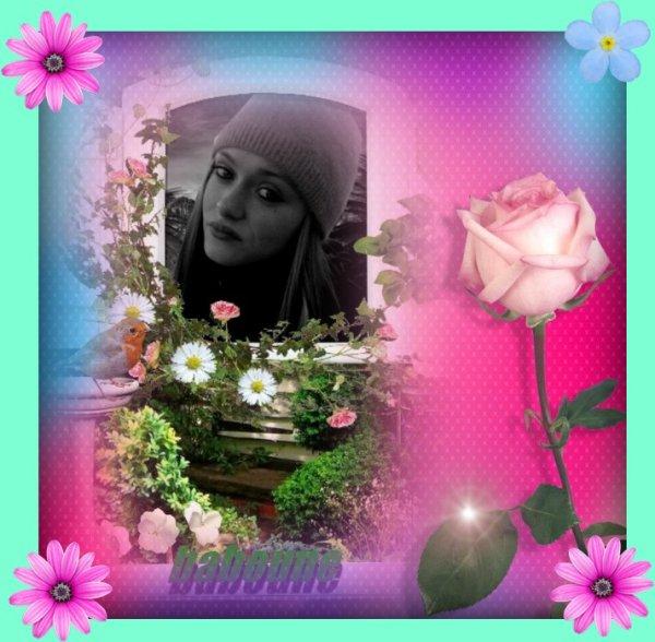 a mon amie baboune bisous merci de ta gentilesse et  fideliter sur mon blog je t adore  amitier marie