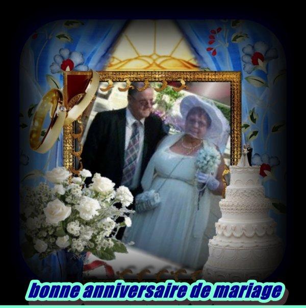 joyeux anniversaire de mariage mes amies amis  encore beaucoup de bhonneur a  vous deux