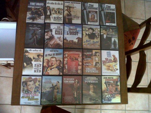 Ma collection de western recu a noel les 20 dvd dans le coffret western