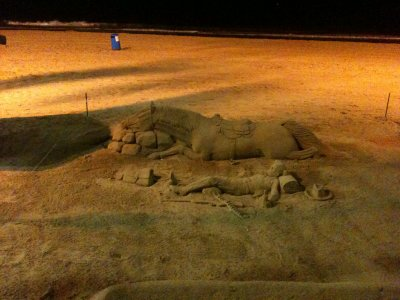 Sculture dans le sable
