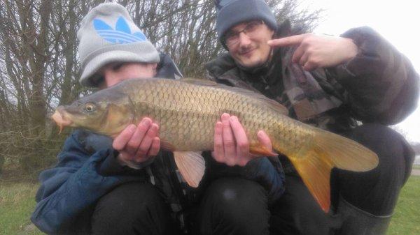 Partie de pêche avec le fiston
